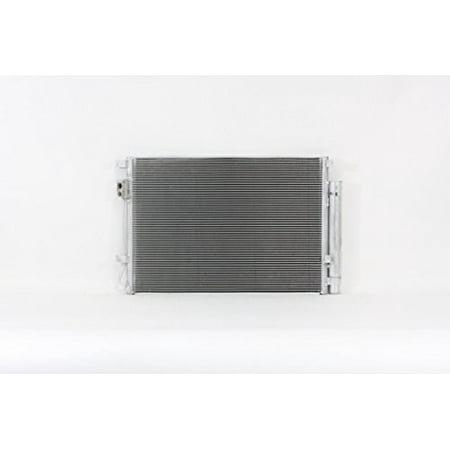 A-C Condenser - Pacific Best Inc For/Fit 4438 Kia Rio5 Rio Sedan Hyundai Accent Sedan Hatchback Veloster w/Receiver & Dryer Parallel