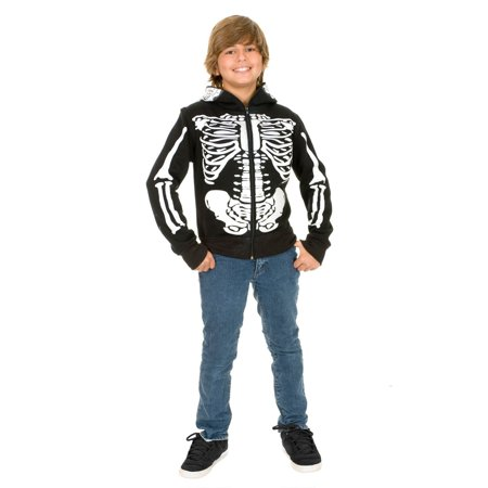 Halloween Skeleton Sweatshirt Hoodie Boy](Boys Skeleton Costumes)