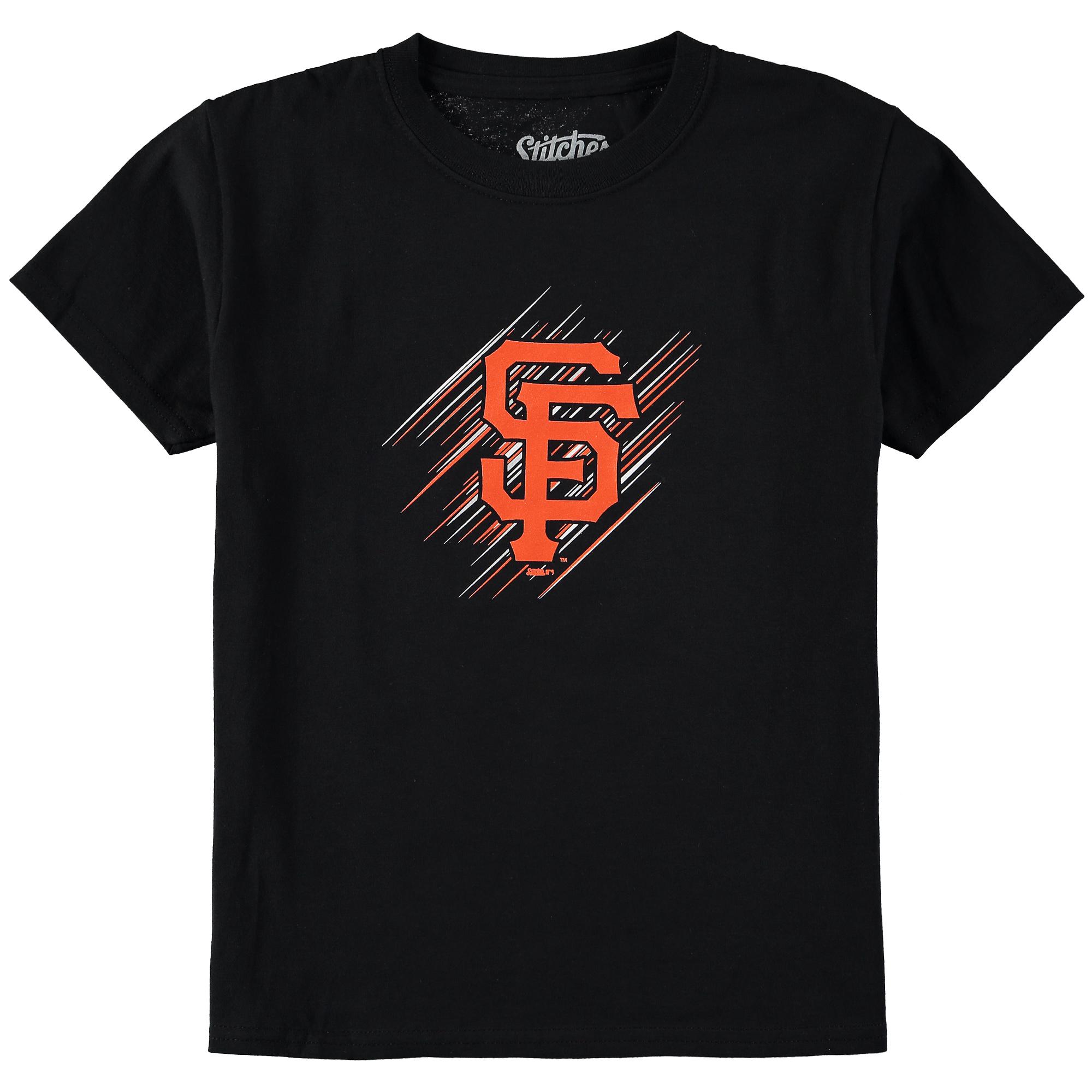 San Francisco Giants Stitches Youth Team Logo T-Shirt - Black