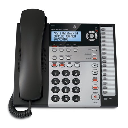 AT&T 1070 4-Line Expandable Corded Small Business Telephone with Caller - Corded Business Telephone