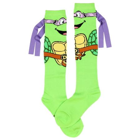 Teenage Mutant Ninja Turtles Don With Mask Knee High - Ninja Turtle Knee High Socks