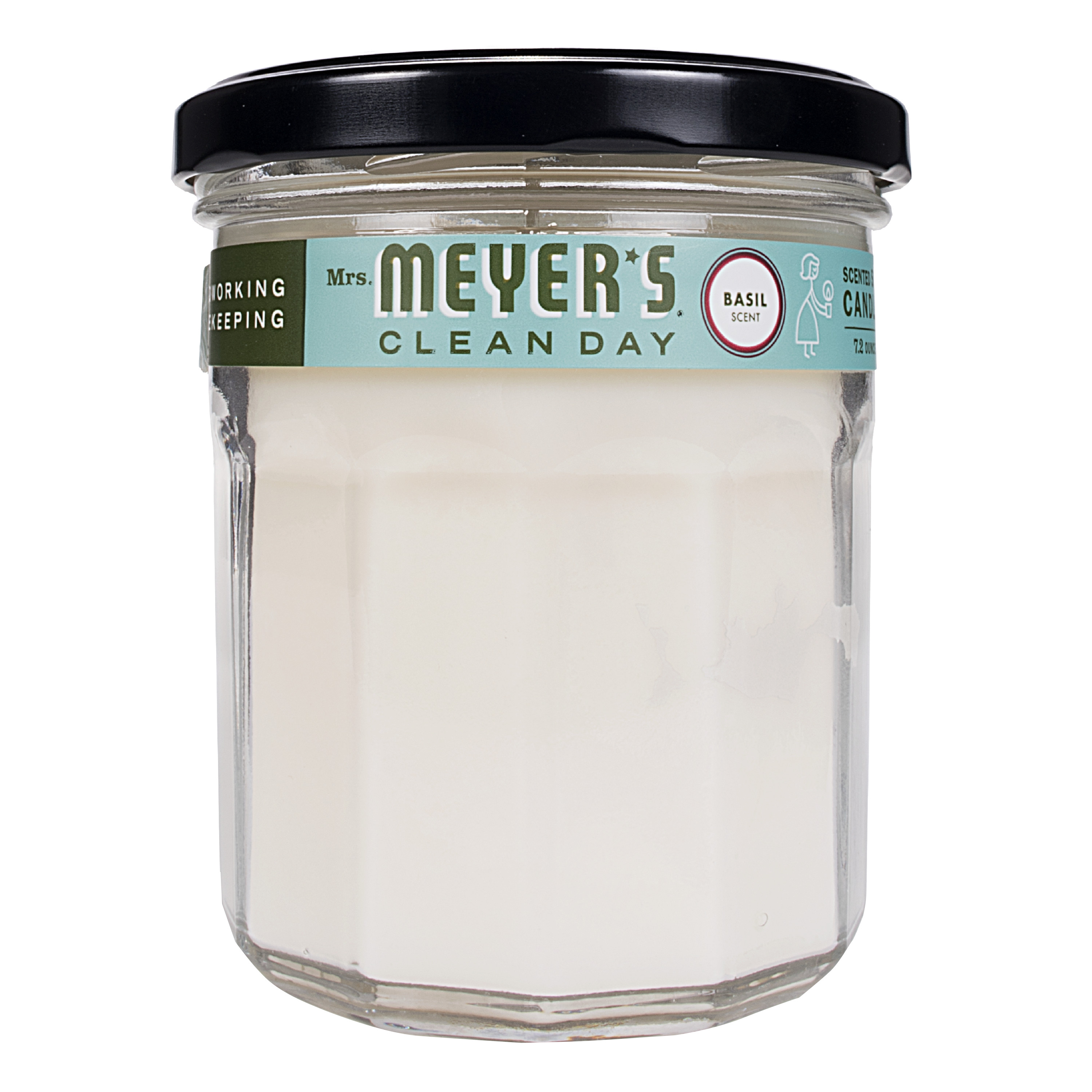 Mrs. Meyer's Clean Day Large Scented Soy Candle, Basil, 7.2 oz