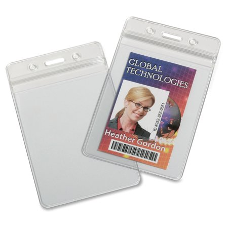 Skilcraft Resealable Badge Holders, 25/BX, Clear 6485710
