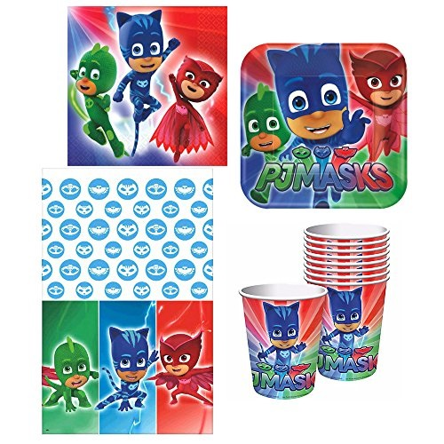 PJ Masks Deluxe Party Supply Bundle for 16 Guests