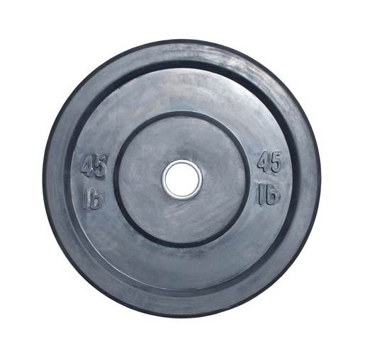 45 Lbs. Bumper Plate in Black