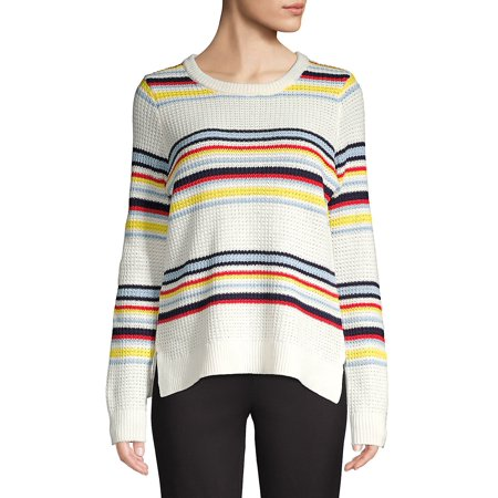Striped Cotton Blend Sweater