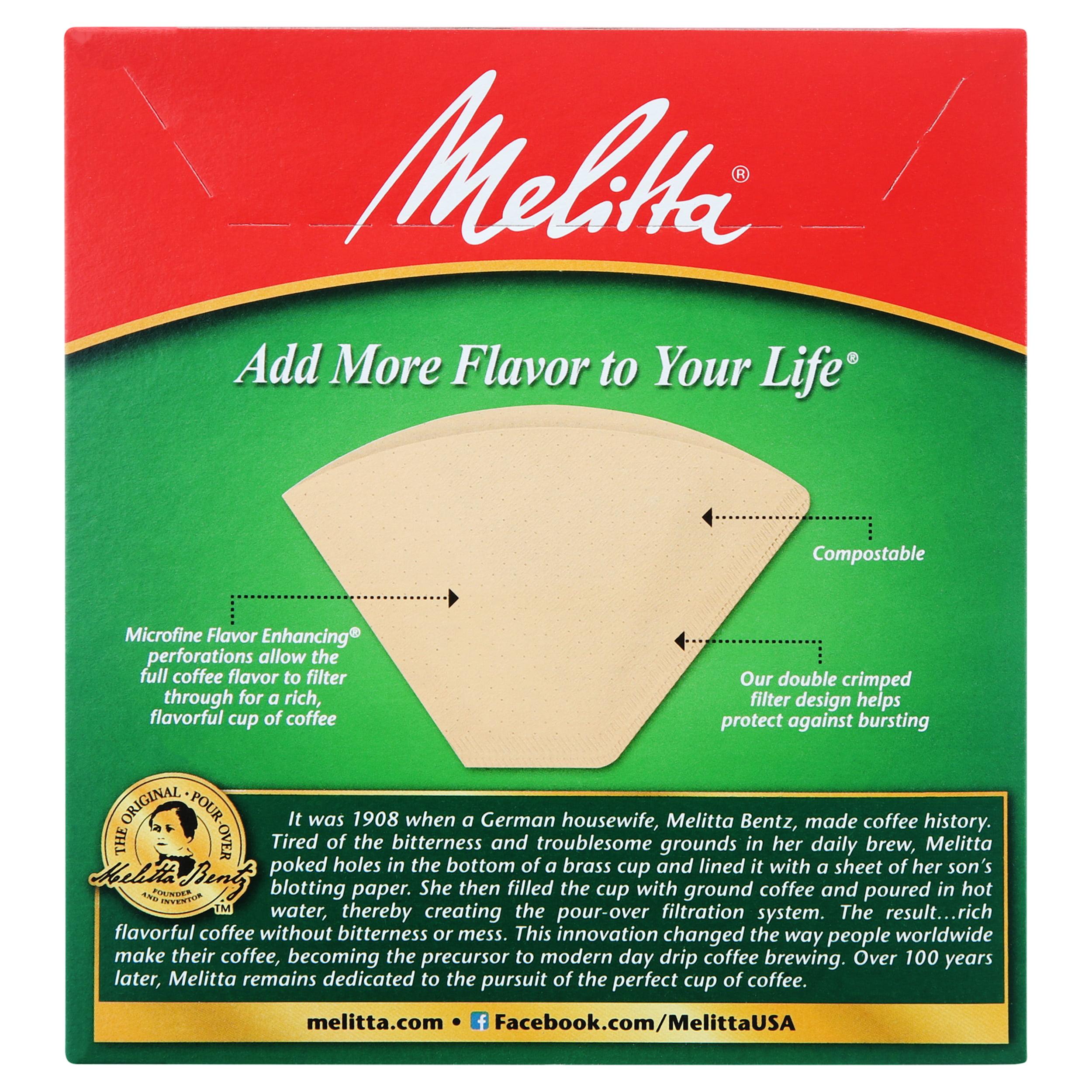Melitta 4 Natural Brown Cone Coffee Filters 100 Ct Walmart Com Walmart Com