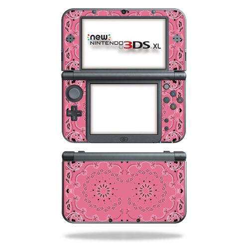 MightySkins Protective Vinyl Skin Decal for New Nintendo 3DS XL (2015) Case wrap cover sticker skins Pink Bandana
