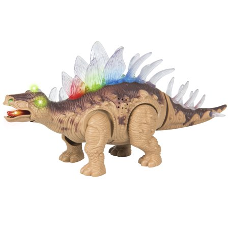 Best Choice Products Kids Toy Walking Dinosaur Stegosaurus Toy Figure Lights & Sounds, Real