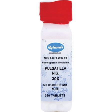 Hyland's Pulsatilla Nig. 30X Tablets, Natural Homeopathic Cold and Runny Nose Relief, 250