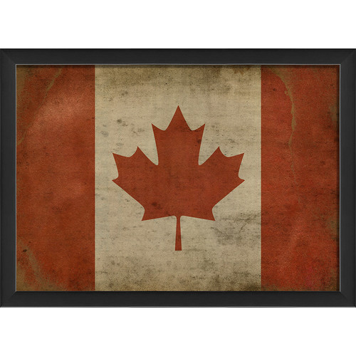 The Artwork Factory Canadian Flag III Framed Graphic Art Print