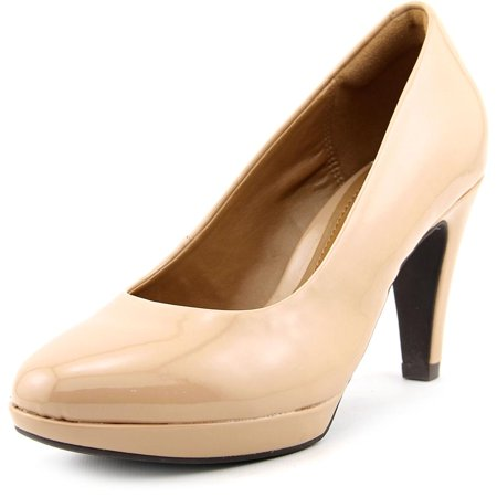 Clarks Narrative Brier Dolly Women Round Toe Synthetic Nude Heels