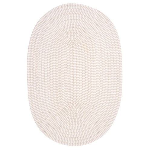 Colonial Mills Ticking Stripe Oval Canvas Light Gray Area Rug