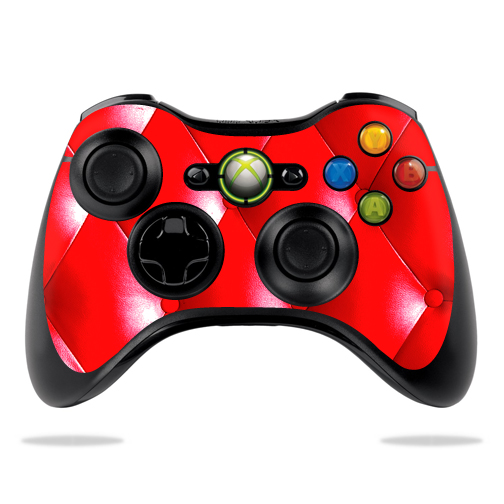 Protective Vinyl Skin Decal Cover for Microsoft Xbox 360 Controller wrap sticker skins Red Upholstery