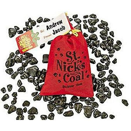 Santa's Coal Bubble Gum St. Nick's Coal-1 pouch (Chocolate Coal)