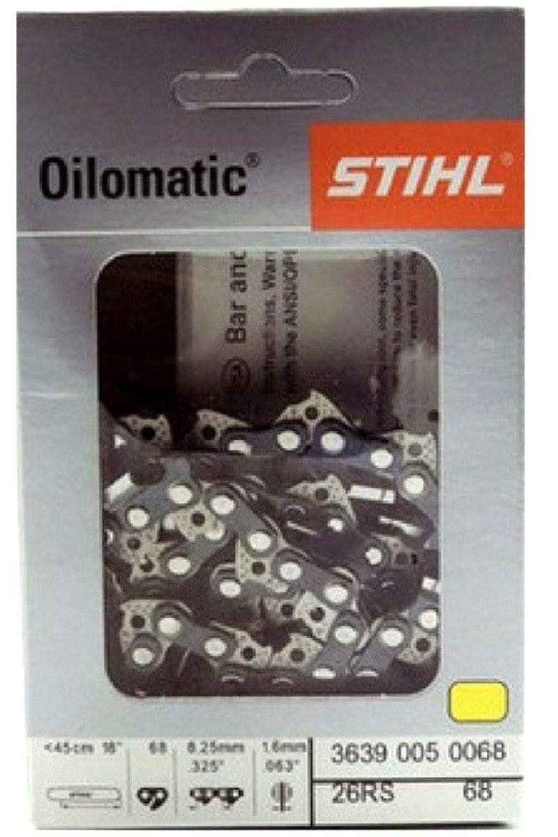 """Stihl 18/"""" chain saw chain 33RS 66  66 Links .3//8 Pitch 0.50 full chisel NEW OEM"""