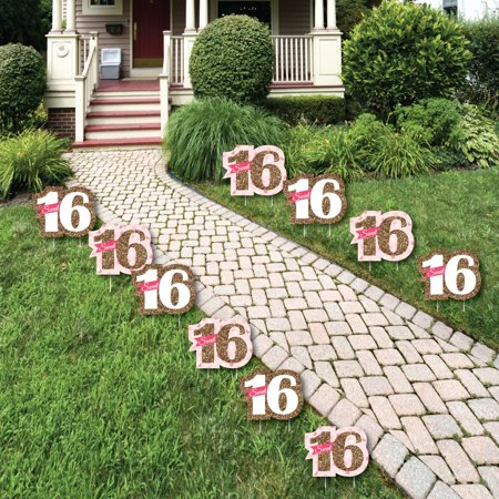 Sweet 16 - Sweet Sixteen Lawn Decorations - Outdoor ...