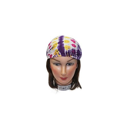 Center Tye Dye Multi Embroidery Headbands / Head wrap / Yoga Headband / Head Sarf / Best Looking Head Band for Sports or Fashion, or Exercise (Best Center Sports Inc)