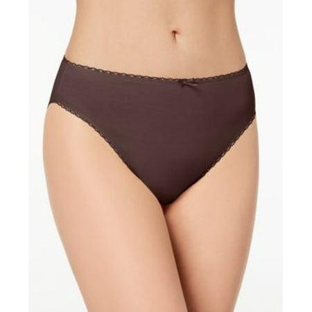 Bikini Spice - Charter Club Intimates Pretty High-Cut Cotton Bikini Panty Hickory Spice Brown - Small