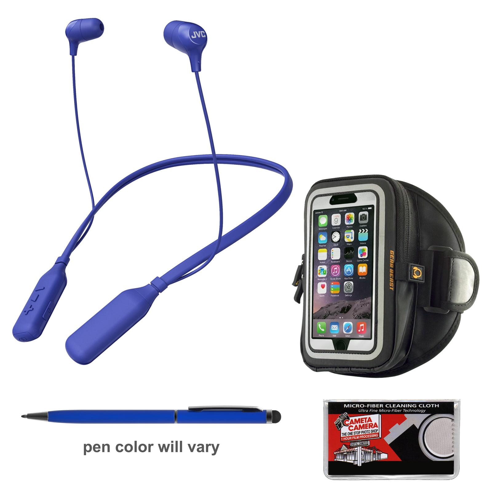JVC HA-FX39BT MARSHMALLOW Bluetooth Inner Ear Headphones (Blue) + Smartphone Sport Armband + Kit