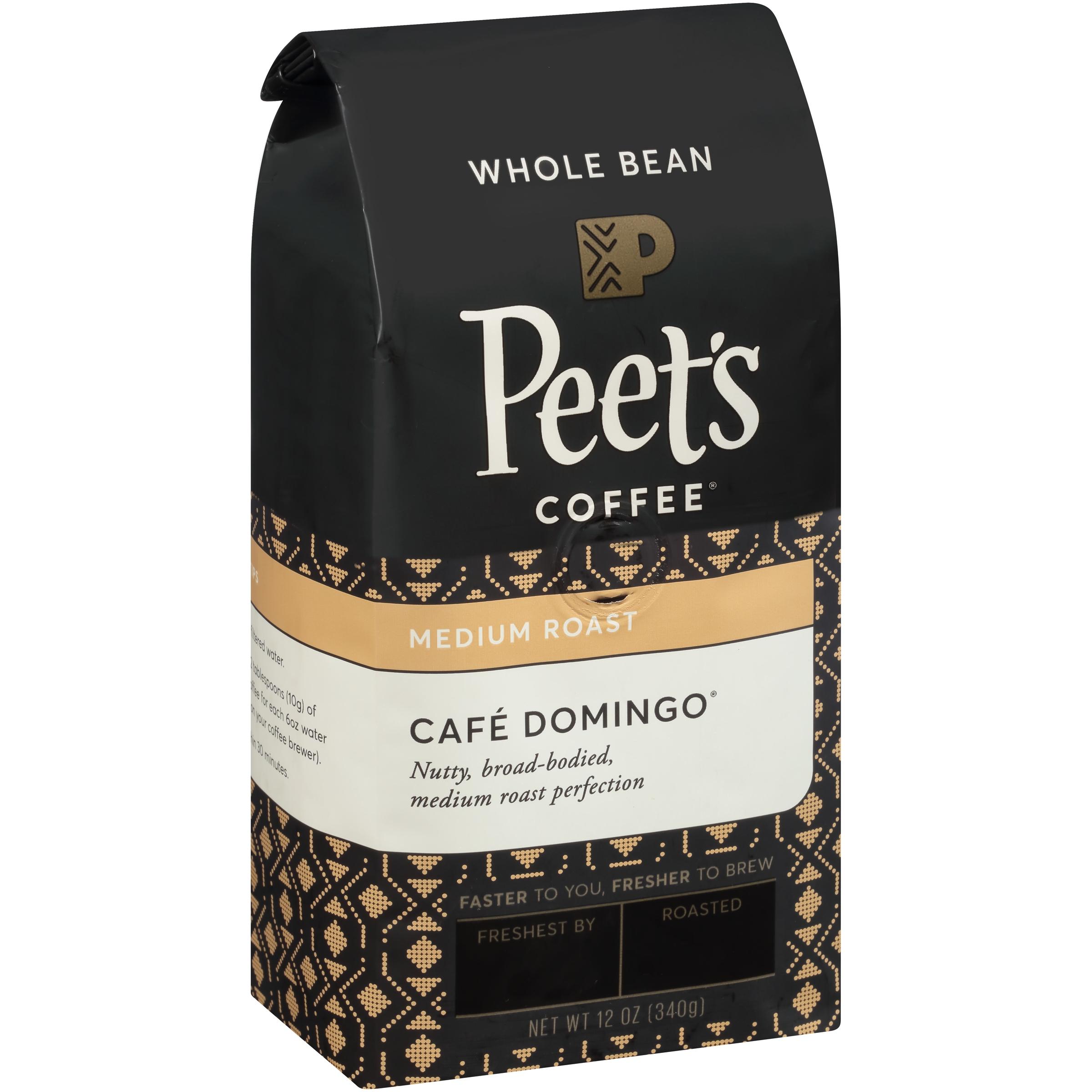 Peet's Coffee® Café Domingo® Medium Roast Whole Bean Coffee 12 oz. Stand Up Bag
