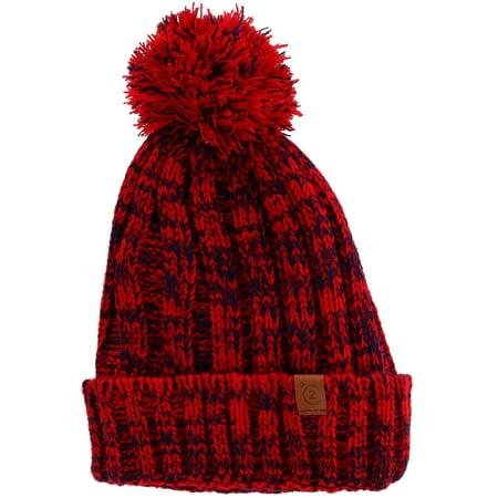 ClimaZer0 - Marled Knit Cuff Cap with Full Sherpa Lining - Walmart.com ded2c837efe