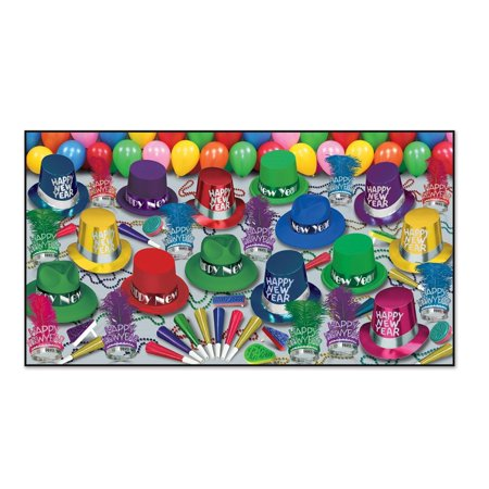 Club Pack Of 50 Grand Deluxe   Happy New Years   Legacy Party Favor Hat Kits