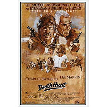 Vintage Movie Poster Death Hunt Lee Marvin Charles Bronson Guns 24X36 Action (Vintage Movie Poster Auction)