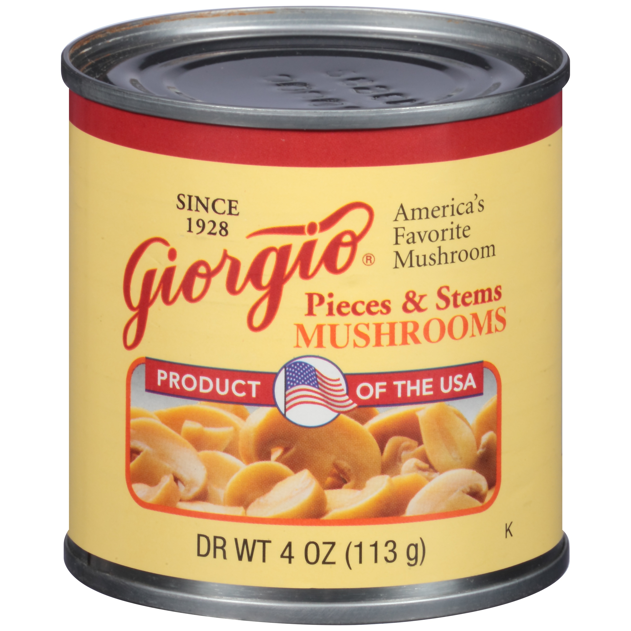 Giorgio Mushrooms Pieces & Stems, 4 oz by Giorgio Foods, Inc.