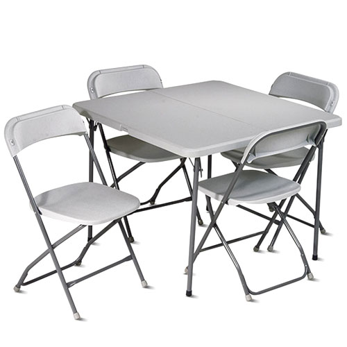 Office Star Work Smart 5-Piece Folding Table and Chair Set