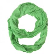 Icon Bijoux Co-Cmf3214-Ltgreen Light Green Genevieve Infinity Scarf