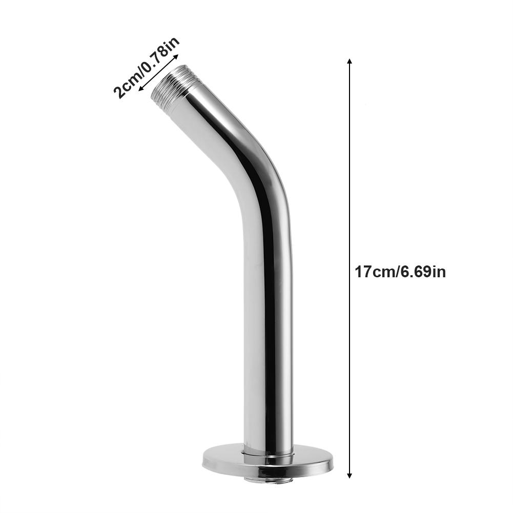 6/'/' Stainless Steel Round Shower Arm Pipe Wall Mount for Bathroom Ceili Home