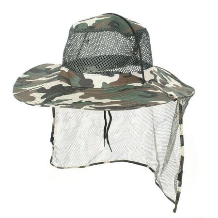 Unique Bargains Men Women Foldable Hiking Fishing Cap Sun Hat Mesh Veil](Mini Hat With Veil)
