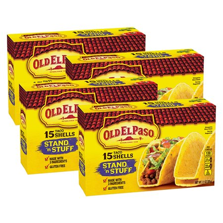 (4 Pack) Old El Paso Stand 'N Stuff Shells, 15 Count, 7.1 oz - Party World El Paso