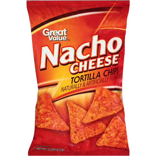 Great Value Nacho Cheese Tortilla Chips, 11 oz
