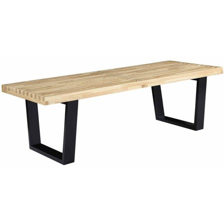 Modway Sauna Rubberwood Top Bench or Coffee Table, Multiple Sizes