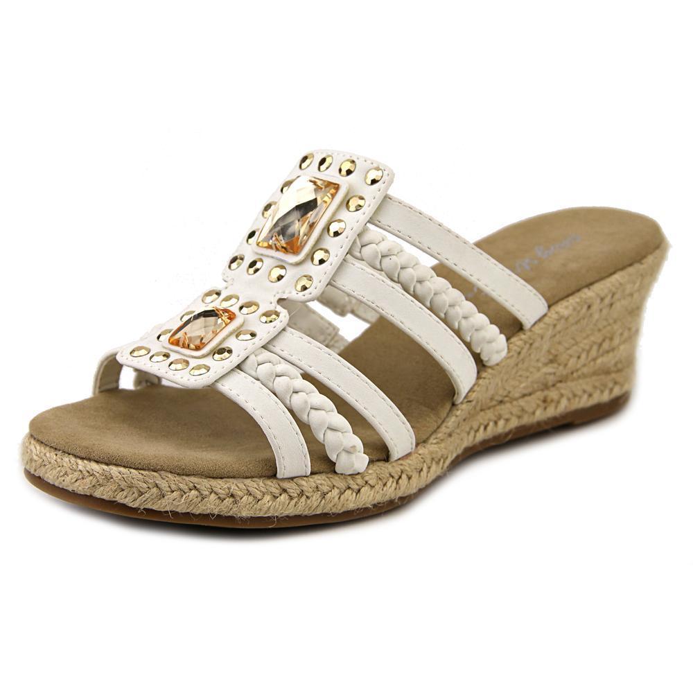 Easy Street Bazinga Women W Open Toe Synthetic Wedge Sandal by Easy Street
