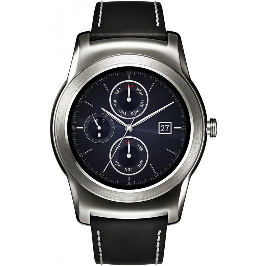 Watch Urbane Wearable Smartwatch, Silver with Black Strap