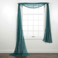 "1PC Solid sheer Scarf Valance Topper Curtain Drape in 216"" for Wedding Quinceniera Gender Reveal Baby Shower Birthday Party Décor in Multiple Colors (Brown)"