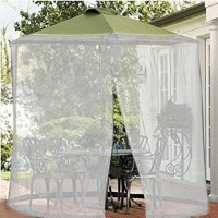 Shatex Umbrella Mosquito Patio Table Screen and net 11'W x 7.2'H White