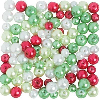 IN-68/26990 Christmas Pearl Bead Assortment - 6mm - 8mm