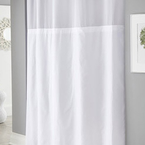Hookless White Mystery Polyester Shower Curtains - Walmart.com