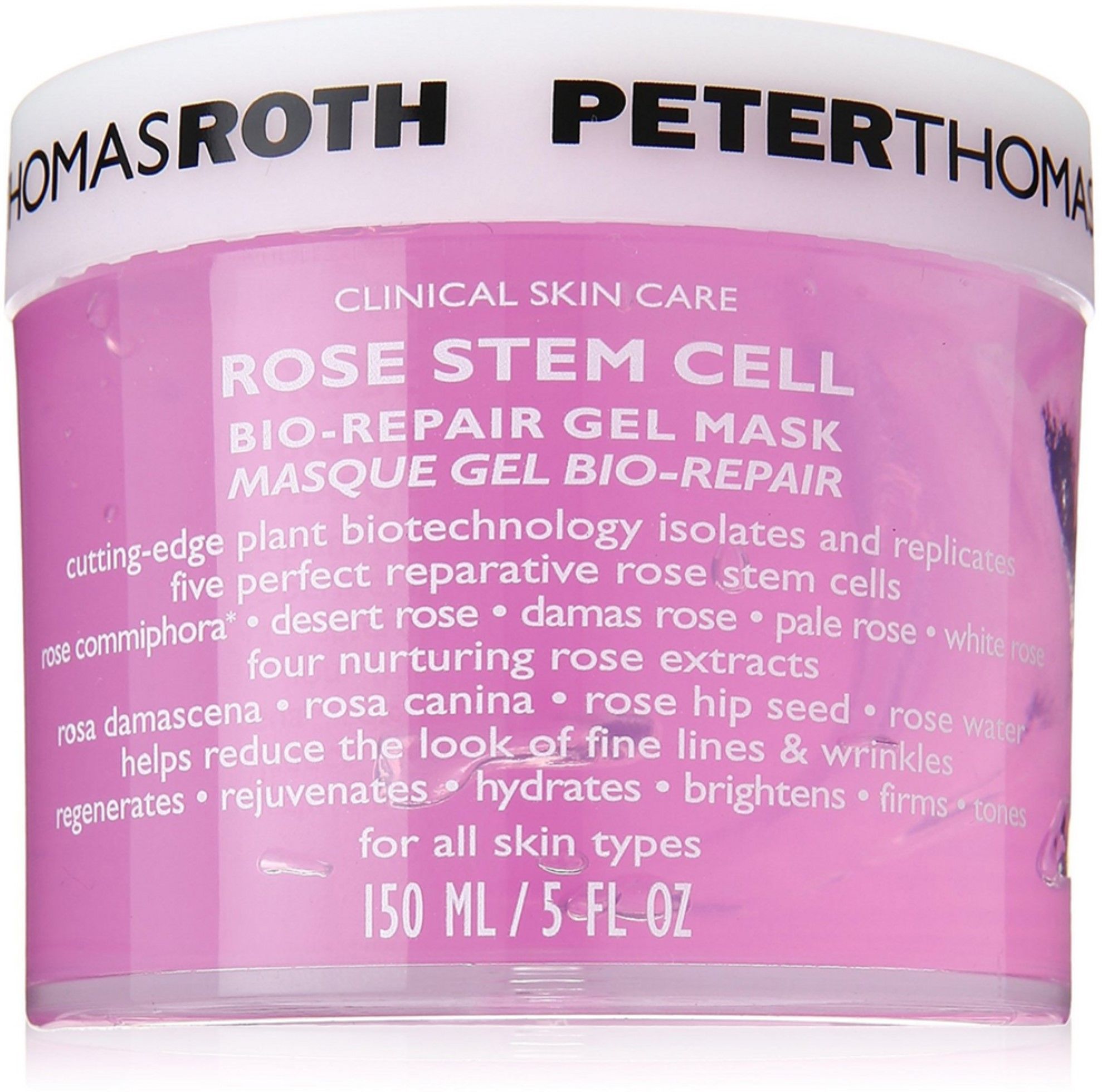 6 Pack - Peter Thomas Roth Rose Stem Cell Bio Repair Gel Mask 5 oz Silicone Electric Face Cleaning Massager Ultrasonic Vibration Brush Deep Cleansing Exfoliating Blackheads Facial Skin Care