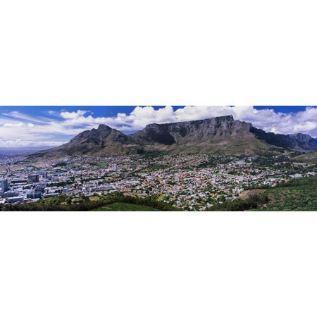 Aerial View of a City from Signal Hill, Cape Town, Western Cape Province, South Africa Print Wall (Aerial View Of Cape Town South Africa)