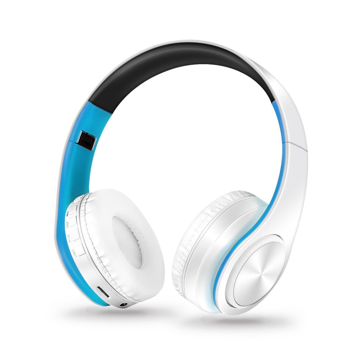 Noise Cancelling Mic HIFI Stereo Bass Bluetooth A2DP Foldable Game Sport Headphone Headset Over Ear Wireless/Wired FM Radio TF AUX for I Phone S amsung S8 L G N okia Tablet PC