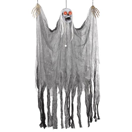 Halloween Haunters Animated Hanging Shaking Reaper Door Curtain Prop Decoration - Evil Entity Animated Halloween Prop
