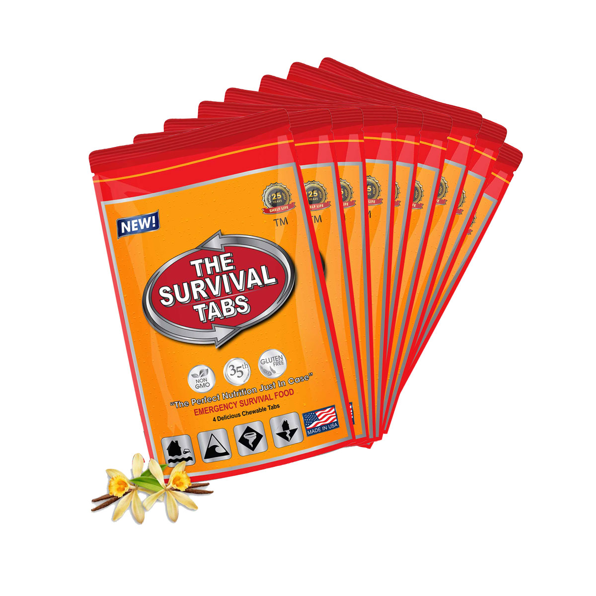Survival Tabs 3 Day 36 Tabs Emergency Food Survival MREs Meal Replacement for Disaster Preparedness Gluten Free and Non-GMO 25 Years Shelf... by