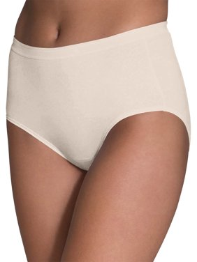 Fruit Of The Loom Women's Cotton Brief Underwear, 10 Pack