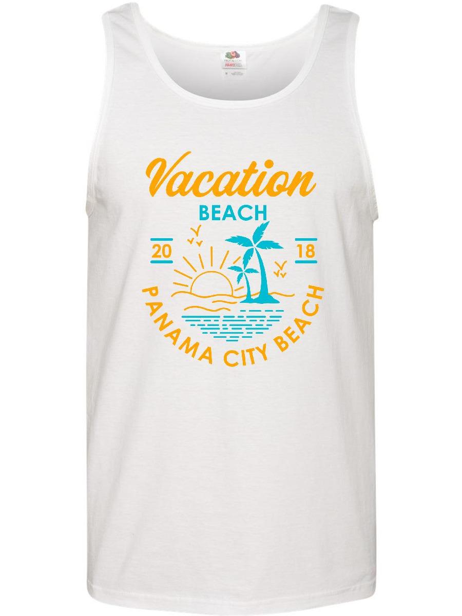 887555a890ef48 Inktastic - 2018 Vacation in Panama City Beach Men s Tank Top - Walmart.com