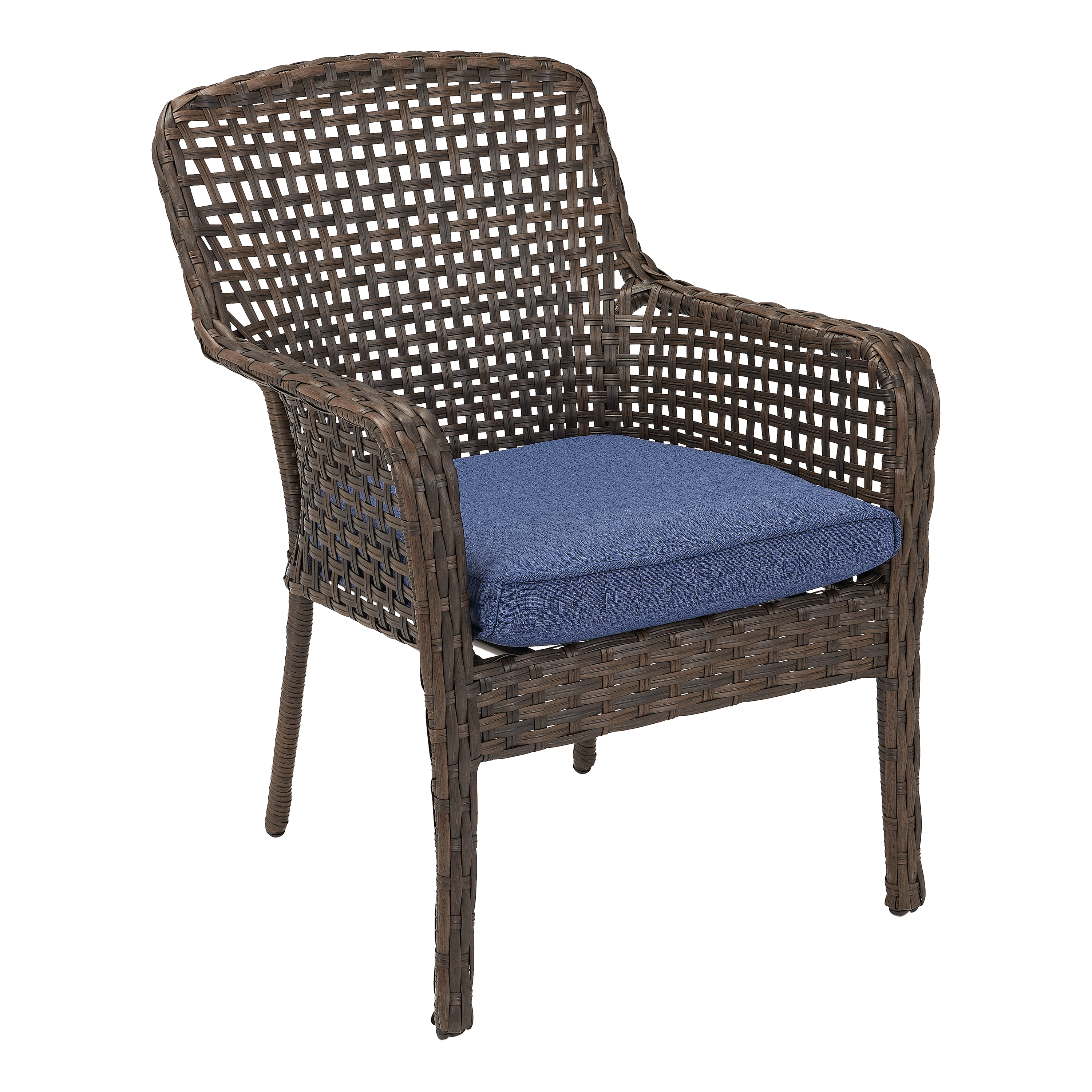 Better Homes & Gardens Ravenbrooke 4-Piece Dining Chair Set with Blue Cushions